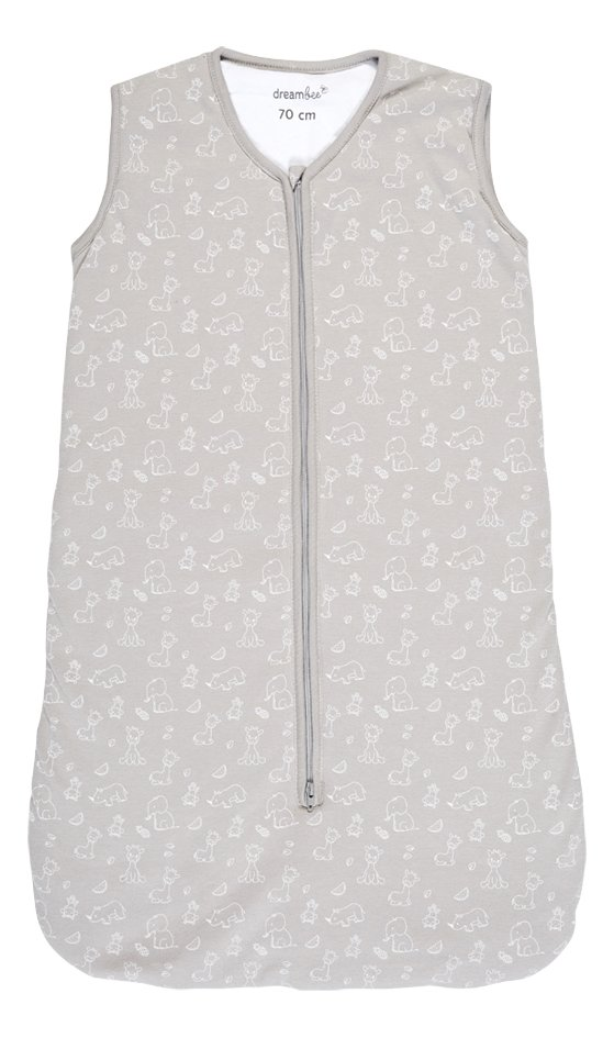 Dreambee Sac de couchage Tobi coton gris 70 cm