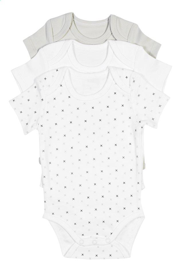 Dreambee Body à manches courtes Essentials croix gris - 3 pièces