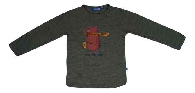 Someone T-shirt met lange mouwen Khaki Melange