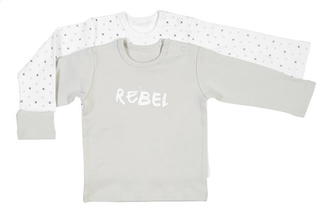 Afbeelding van Dreambee T-shirt met lange mouwen Essentials kruisje grijs/wit - 2 stuks from Dreambaby