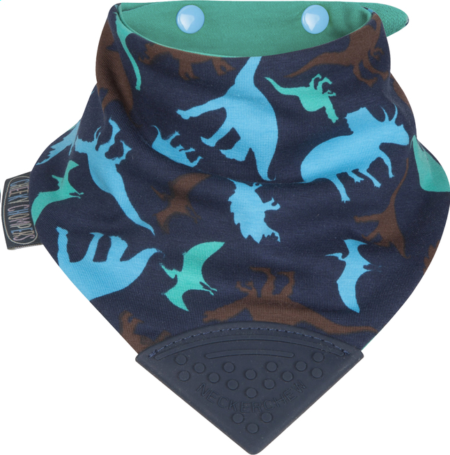Afbeelding van Cheeky Chompers Bandana slab Neckerchew met drukknoppen dino friends from Dreambaby