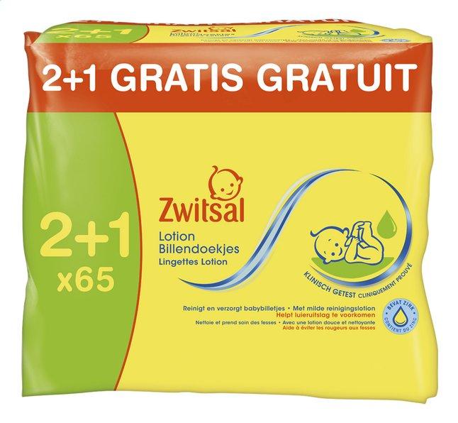 Afbeelding van Zwitsal Vochtige billendoekjes lotion 2+1 gratis 3x65 from Dreambaby