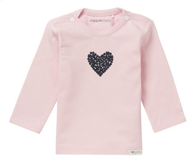 Afbeelding van Noppies T-shirt met lange mouwen Natick light rose maat 74 from Dreambaby
