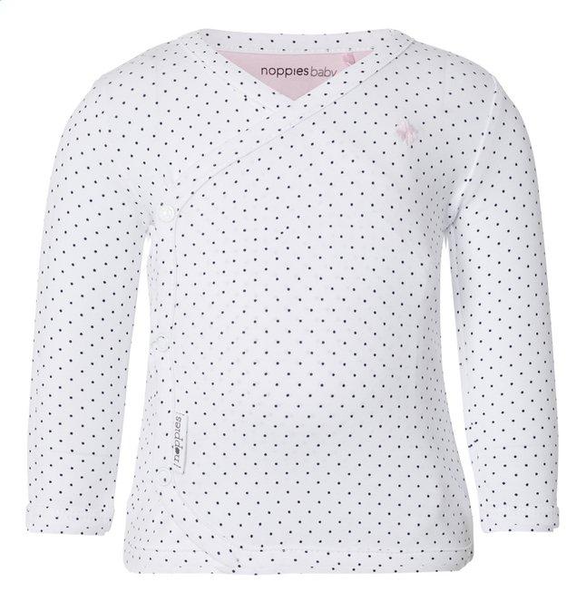 Afbeelding van Noppies T-shirt met lange mouwen Kim white maat 74 from Dreambaby