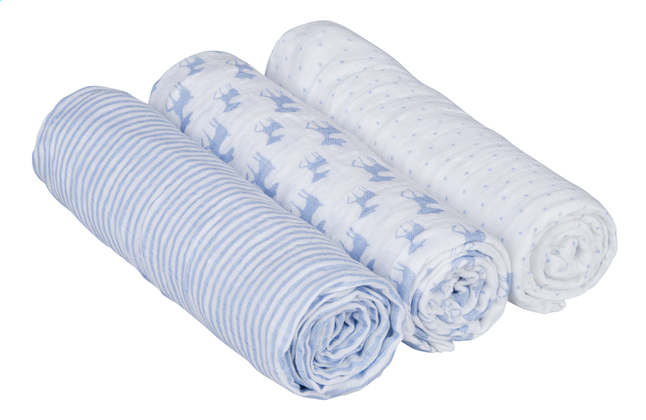 Image pour Lässig Lingette tetra Lela light blue  - 3 pièces à partir de Dreambaby