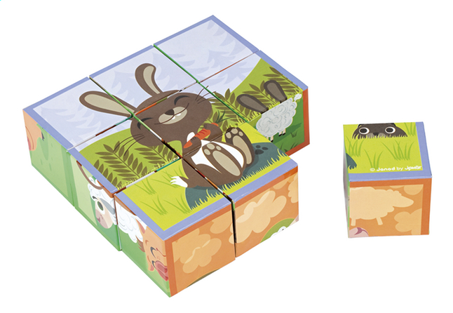 Afbeelding van Janod Blokkenpuzzel Farm Animals Kubkid from Dreambaby