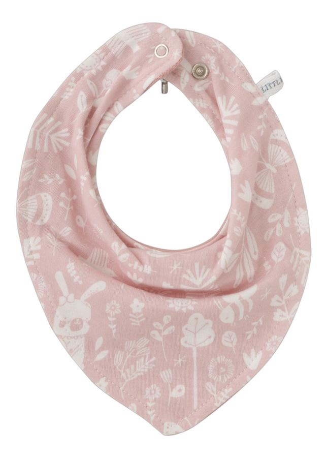 Afbeelding van Little Dutch Bandana slab Adventure Pink met drukknoppen from Dreambaby