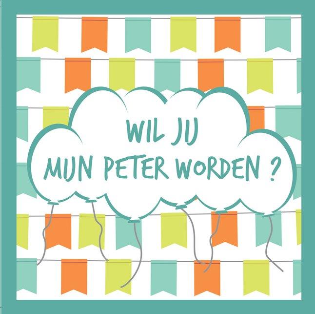 Image pour Minimou Sticker Balloons Wil jij mijn peter worden? à partir de Dreambaby
