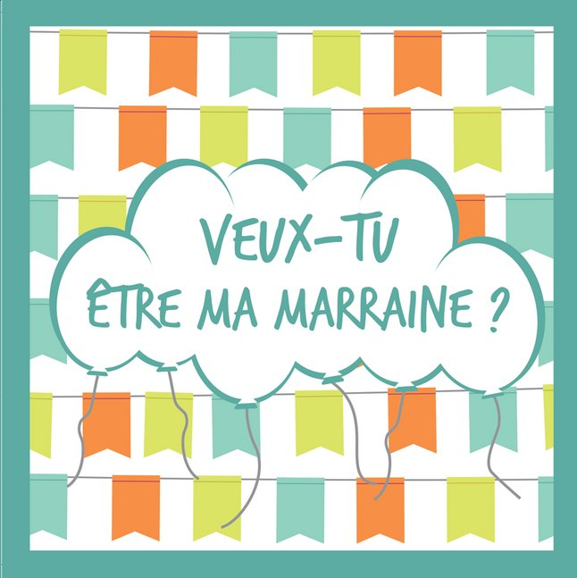 Afbeelding van Minimou Sticker Balloons Veux-tu être ma marraine ? from Dreambaby
