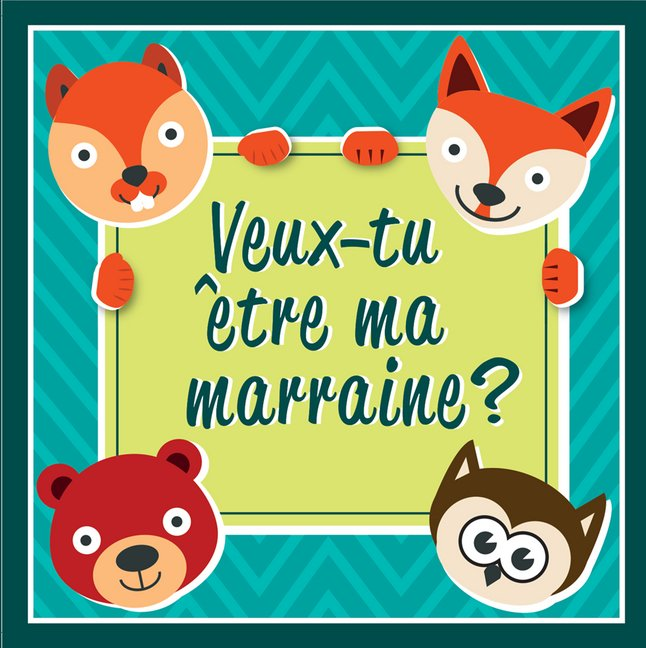 Afbeelding van Minimou Sticker Foxes Veux-tu être ma marraine ? from Dreambaby