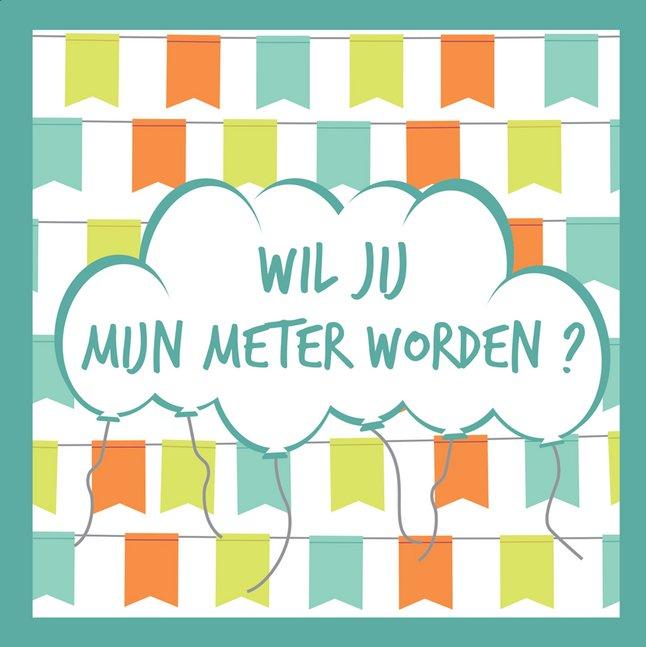Afbeelding van Minimou Sticker Balloons Wil jij mijn meter worden? from Dreambaby