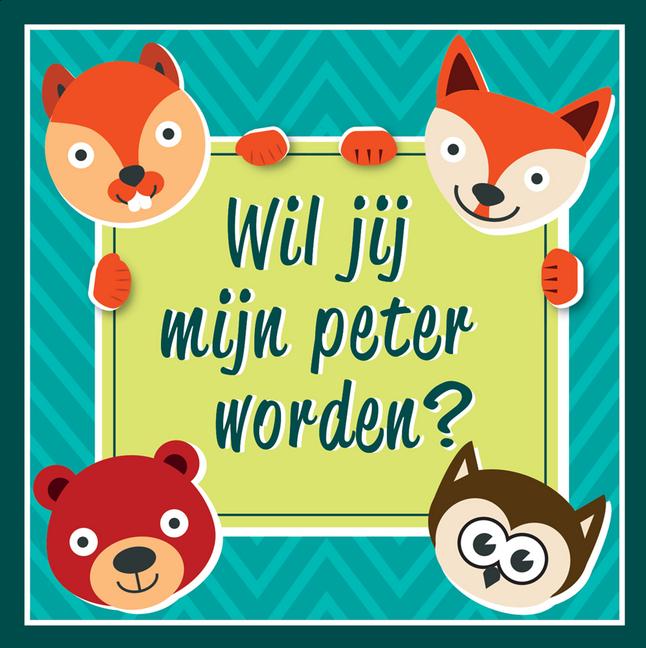 Afbeelding van Minimou Sticker Foxes Wil jij mijn peter worden? from Dreambaby
