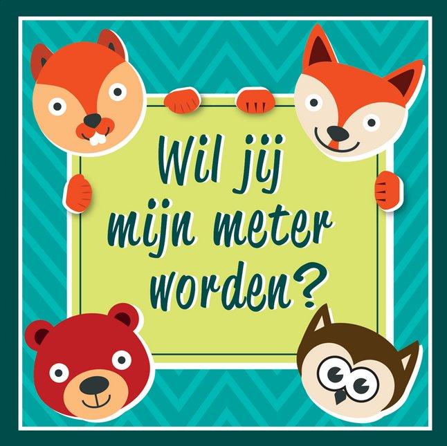 Afbeelding van Minimou Sticker Foxes Wil jij mijn meter worden? from Dreambaby