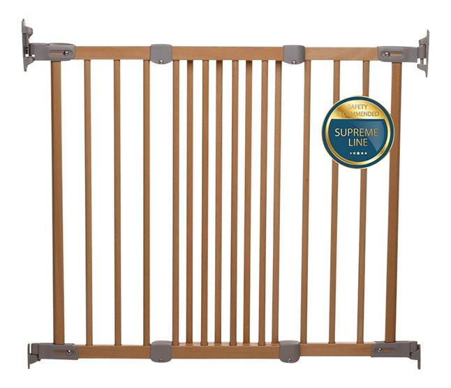 BabyDan Barrière de porte et d'escalier Elin Wood bois naturel