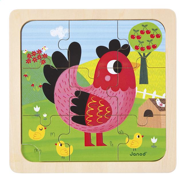 Image pour Janod Puzzle Poulette Violette à partir de Dreambaby