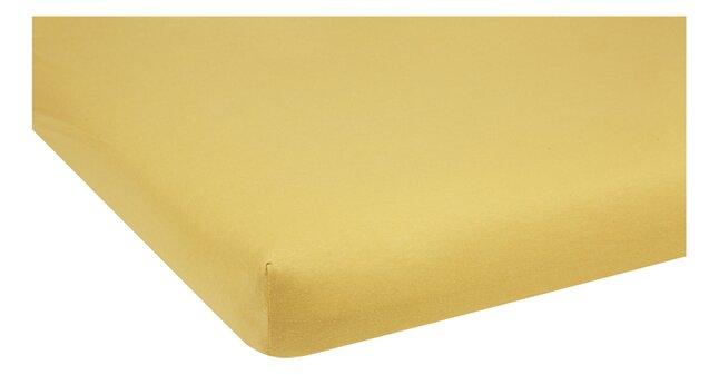Dreambee Drap-housse pour lit Essentials ocre Lg 60 x L 120 cm