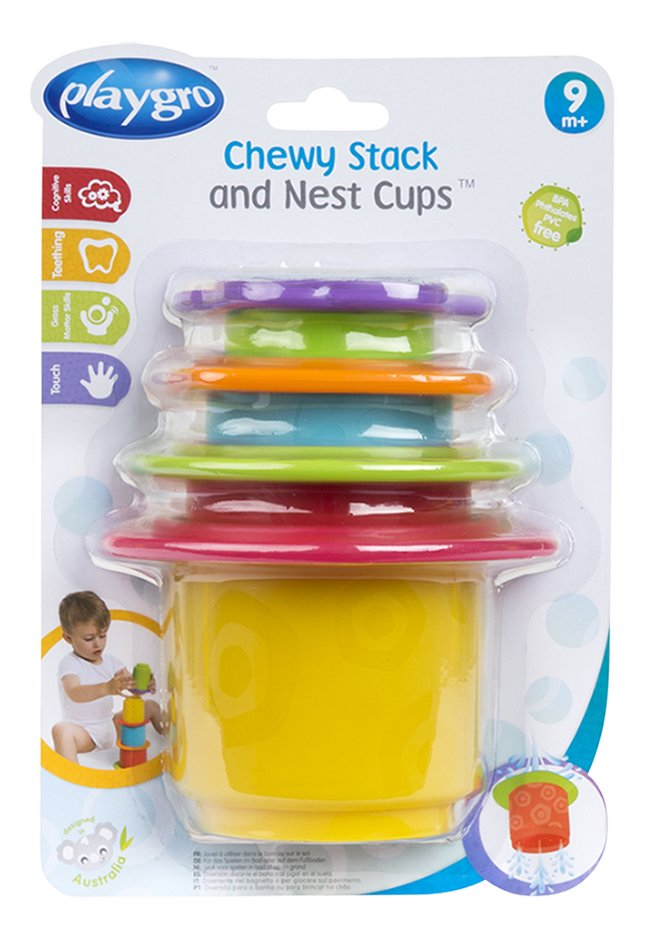 Afbeelding van Playgro Stapelpotjes Chewy Stack and Nest Cups from Dreambaby