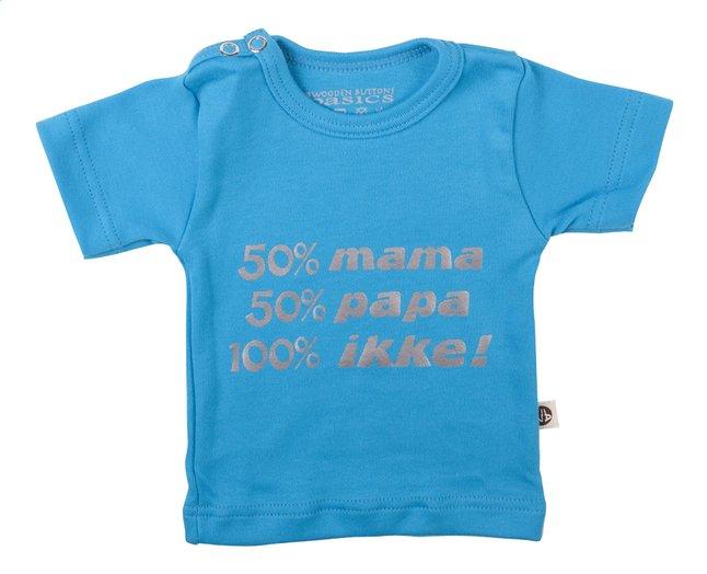 Image pour Wooden Buttons T-shirt à manches courtes 50% mama 50% papa 100% ikke! aqua taille 50/56 à partir de Dreambaby