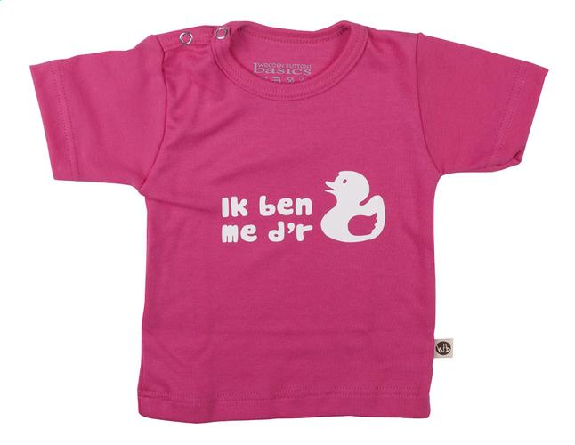 Image pour Wooden Buttons T-shirt à manches courtes Ik ben me d'r eendje NL fuchsia taille 50/56 à partir de Dreambaby