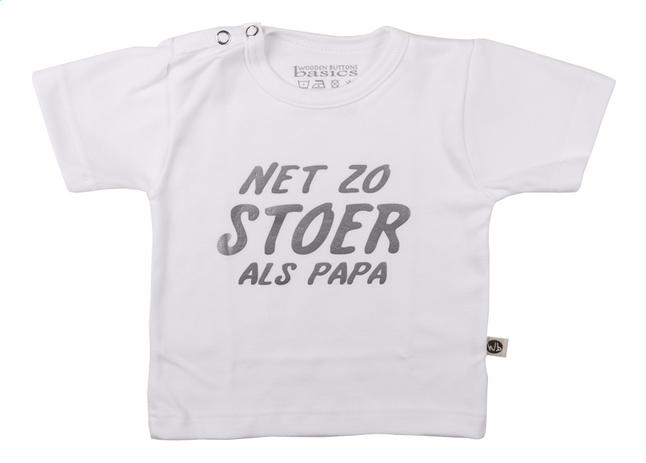 Afbeelding van Wooden Buttons T-shirt met korte mouwen Net zo stoer als papa wit maat 50/56 from Dreambaby