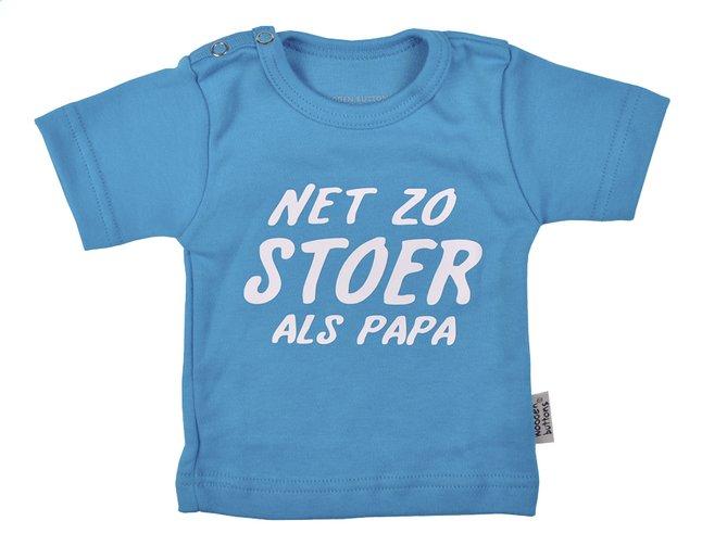 Afbeelding van Wooden Buttons T-shirt met korte mouwen Net zo stoer als papa aqua maat 50/56 from Dreambaby