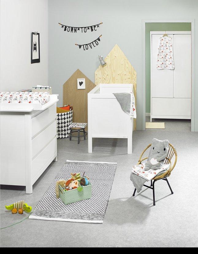 Image pour Troll Chambre de bébé 3 pièces avec armoire 2 portes Lukas à partir de Dreambaby