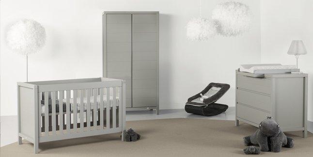 Image pour Quax Chambre évolutive 3 pièces avec armoire 2 portes Stripes griffin grey à partir de Dreambaby