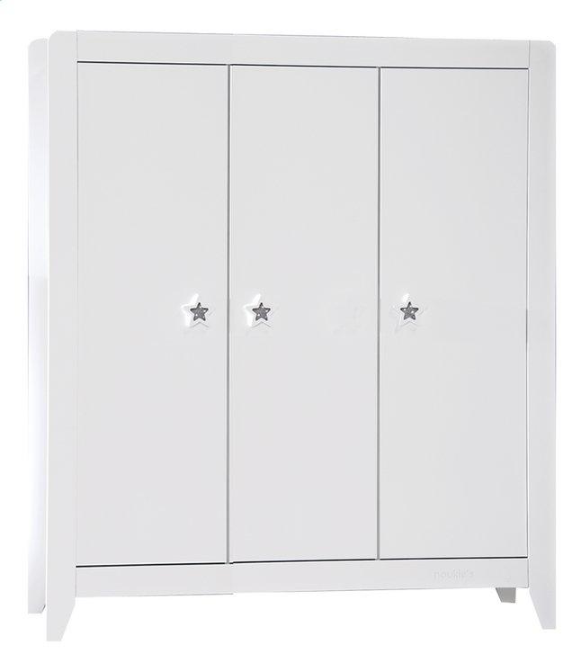 Image pour Noukie's Armoire 3 portes Poudre d'Étoiles décor blanc à partir de Dreambaby