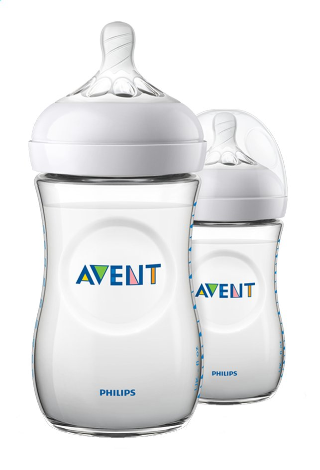 Philips AVENT Biberon Natural 2.0 Duo transparent 260 ml - 2 pièces