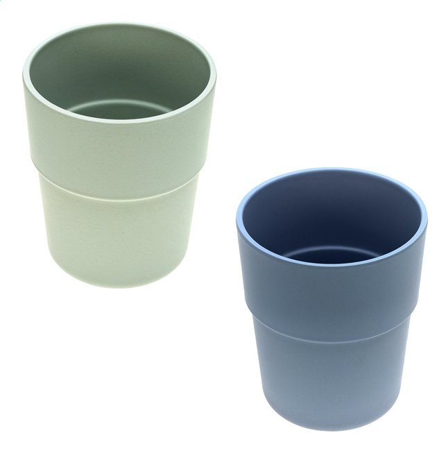Lässig Oefenbeker bamboe mint/blueberry - 2 stuks