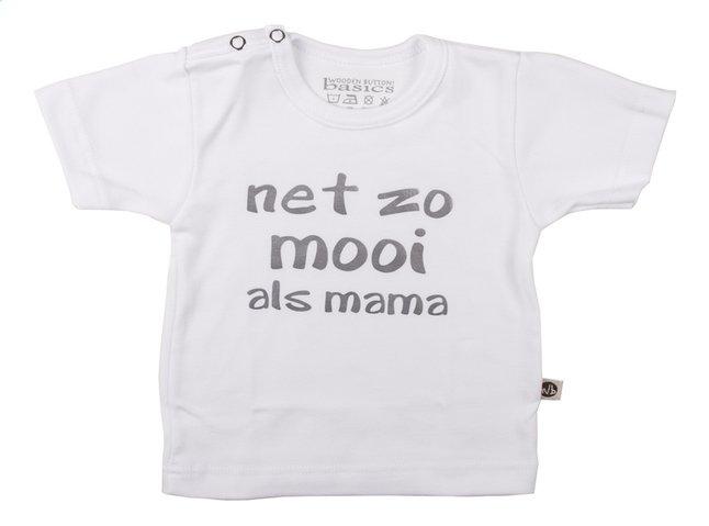 Afbeelding van Wooden Buttons T-shirt met korte mouwen Net zo mooi als mama wit maat 62/68 from Dreambaby