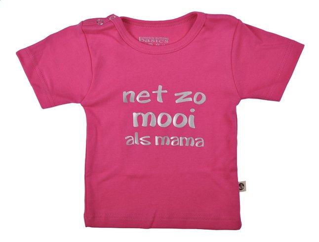 Image pour Wooden Buttons T-shirt à manches courtes Net zo mooi als mama fuchsia taille 50/56 à partir de Dreambaby