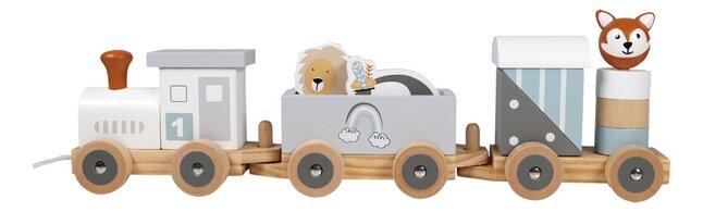 Tryco Houten Speelgoedtrein met diertjes