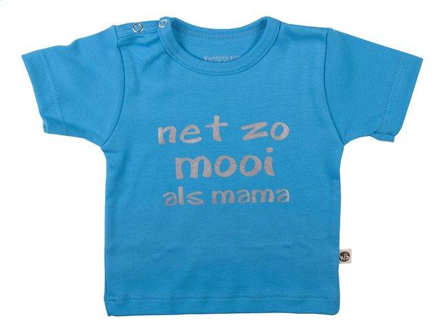 Image pour Wooden Buttons T-shirt à manches courtes Net zo mooi als mama aqua taille 86/92 à partir de Dreambaby