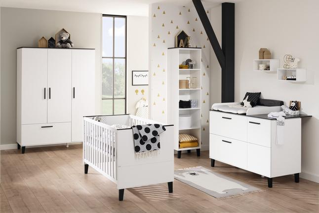 Afbeelding van PAIDI 3-delige kamer met kast met 3 deuren Eliana from Dreambaby
