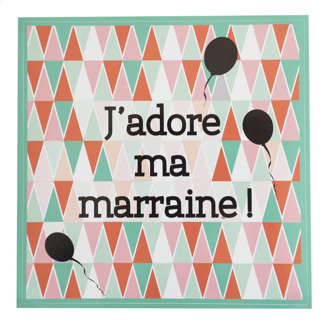 Afbeelding van Minimou Sticker Scandic J'adore ma marraine! from Dreambaby