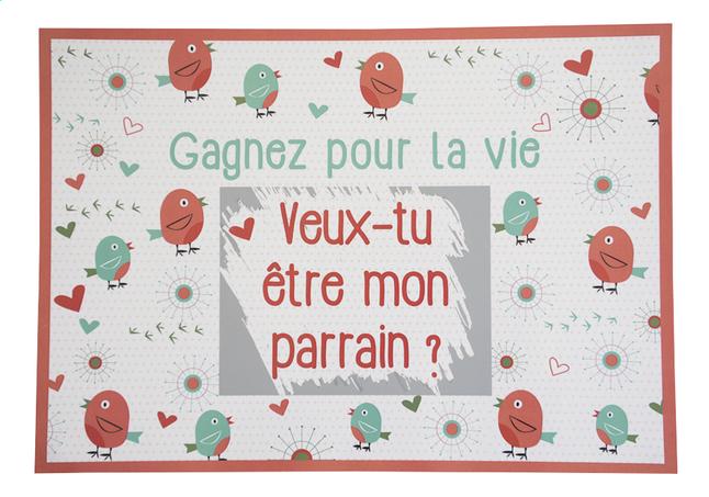 Afbeelding van Minimou Kraskaart Birdy Veux-tu être mon parrain? from Dreambaby