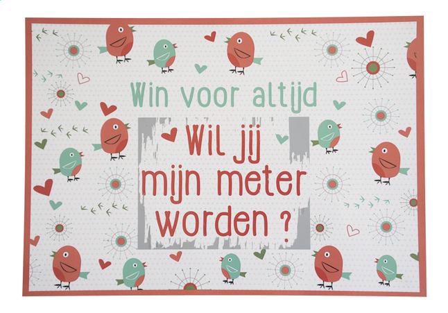 Image pour Minimou Carte à gratter Birdy Wil jij mijn meter worden? à partir de Dreambaby