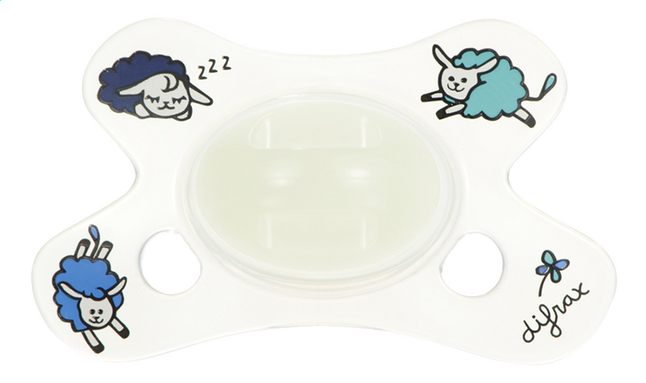 Image pour Difrax Sucette + 0 mois Dental Glow in the dark transparent à partir de Dreambaby