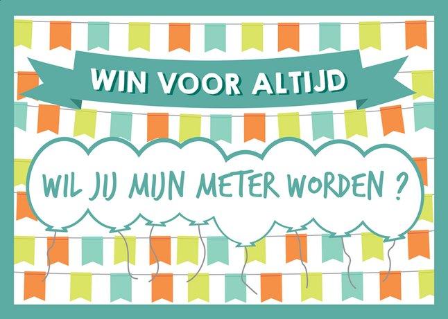 Afbeelding van Minimou Kraskaart Balloons Wil jij mijn meter worden? from Dreambaby