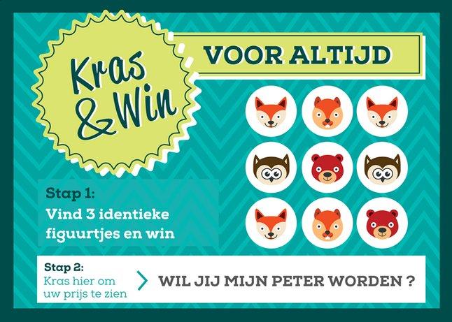 Image pour Minimou Carte à gratter Foxes Wil jij mijn peter worden? à partir de Dreambaby