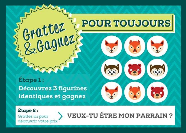 Image pour Minimou Carte à gratter Foxes Veux-tu être mon parrain ? à partir de Dreambaby
