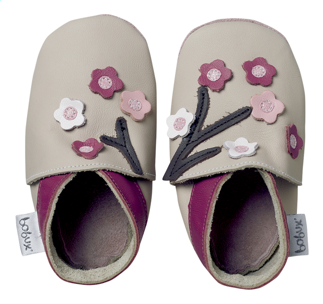 Afbeelding van Bobux Schoentjes Soft sole Blossom Flowers beige from Dreambaby