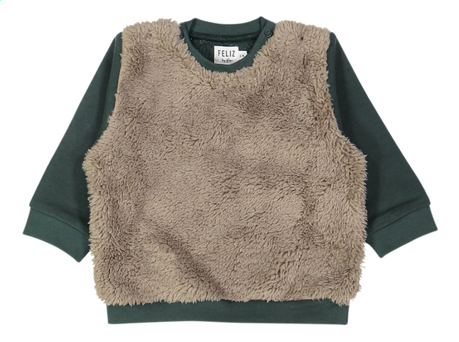 Afbeelding van Feliz by Filou Sweater fur groen from Dreambaby