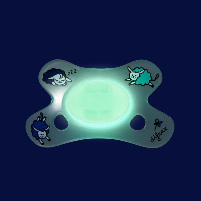 Image pour Difrax Sucette + 0 mois Dental Glow in the dark transparent à partir de Dreambaby