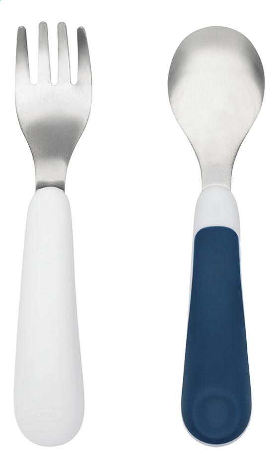 OXO Tot Fourchette et cuillère bleu marine