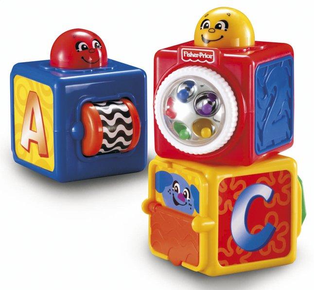 Image pour Fisher-Price Blocs à empiler Stacking Action Blocks - 3 pièces à partir de Dreambaby