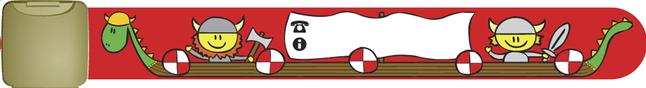 Image pour Bracelet d'identification rouge avec bateau de Vikings à partir de Dreambaby