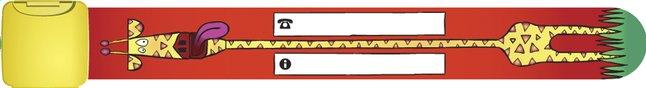 Image pour Bracelet d'identification rouge avec girafe à partir de Dreambaby