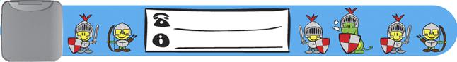Image pour Bracelet d'identification bleu avec chevaliers à partir de Dreambaby